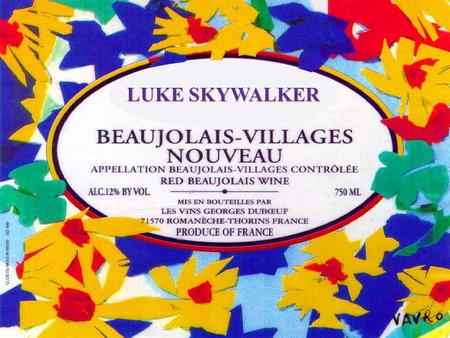 LUKE SKYWALKER Beaujolais is written with an S because there are 12 of them.