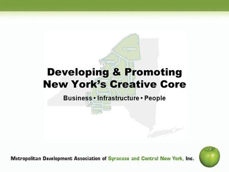 Subtitle Developing & Promoting New Yorks Creative Core Business Infrastructure People.