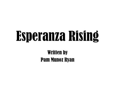 esperanza rising essay questions Questions set on esperanza rising essaythis discussion guide for esperanza rising features guided student questions with.