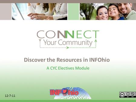 Discover the Resources in INFOhio A CYC Electives Module 12-7-11.