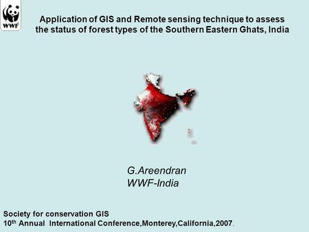 Application of GIS and Remote sensing technique to assess