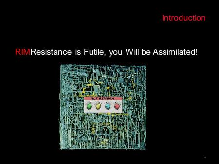 Domain Driven Design and RIM. Introduction 1 RIMResistance is Futile, you Will be Assimilated!