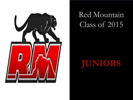 Red Mountain Class of 2015 JUNIORS. Junior ECAP Internet Resources