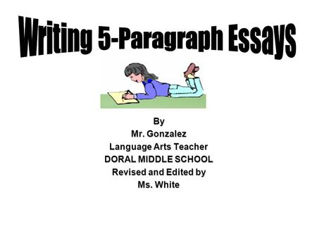 Writing 5-Paragraph Essays