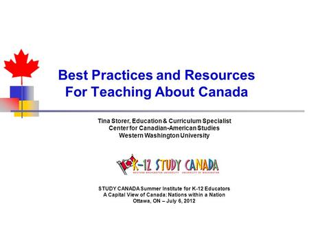 Best Practices and Resources For Teaching About Canada