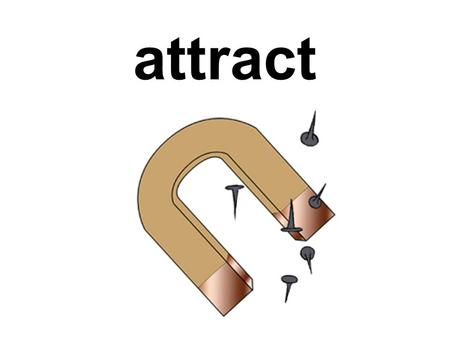 attract circuit When two objects are pulled together.