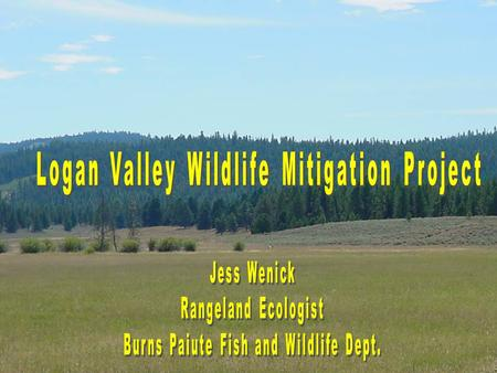 Project Introduction Consists of 1,760 deeded acres timber, sagebrush, and wet/dry meadow habitats. Includes Big, Lake, and McCoy Creeks.