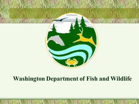 Washington Department of Fish and Wildlife. Project 199106100 SWANSON LAKES WILDLIFE AREA (SLWA)