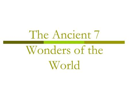 The Ancient 7 Wonders of the World. Temple of Artemis Then Now.