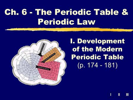 I. Development of the Modern Periodic Table (p )