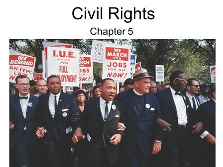 Civil Rights Chapter 5. WHO GOVERNS?WHO GOVERNS? 1.Since Congress enacts our laws, why has it not made certain that all groups have the same rights? 2.After.