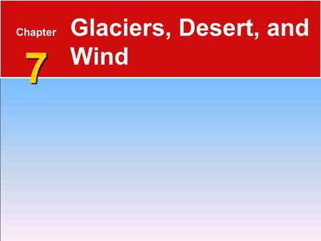 Glaciers, Desert, and Wind