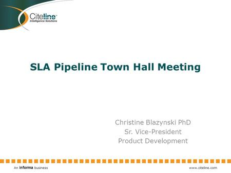 SLA Pipeline Town Hall Meeting