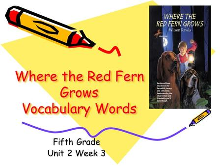 Where the Red Fern Grows Vocabulary Words