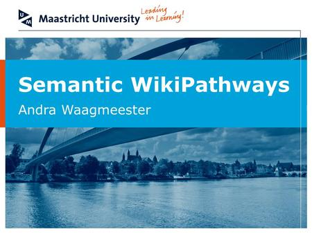 Semantic WikiPathways Andra Waagmeester. Department of Bioinformatics - BiGCaT 2 Overview Introduction to WikiPathways GPML Pathway to RDF conversion.