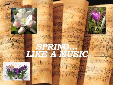 SPRING… LIKE A MUSIC. FRYDERYK CHOPIN Most famous polish composer Chopin was born in the village of Żelazowa Wola, in the Duchy of Warsaw, to a French-