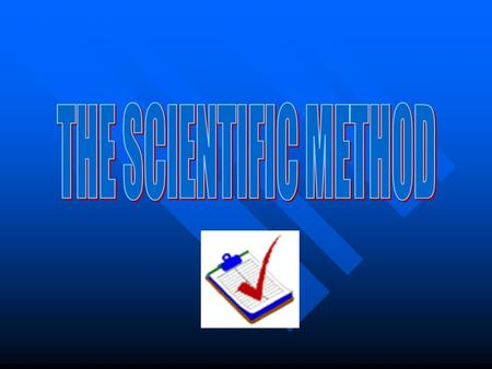 What is the Scientific Method? The Scientific Method Is: A series of steps used to help solve a problem or question. A set of common steps that biologists.