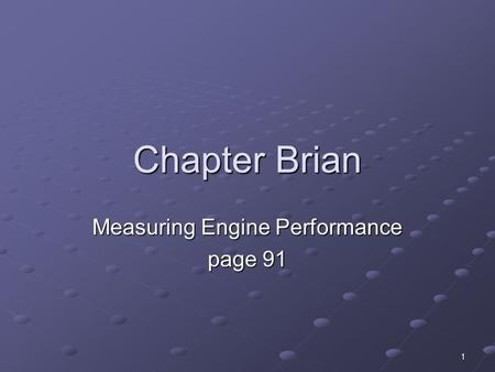 Measuring Engine Performance page 91