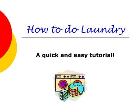 A quick and easy tutorial!
