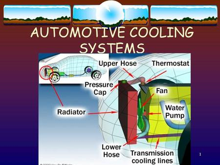 1 AUTOMOTIVE COOLING SYSTEMS. 2 Purpose of the Cooling system Control temperature of hot combustion. 4000 degree temps. could seriously damage engine.