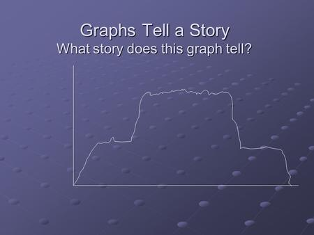 Graphs Tell a Story What story does this graph tell?