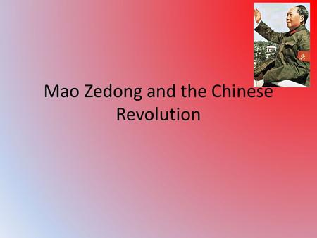 Mao Zedong and the Chinese Revolution. Republic of China The Qing Dynasty was over thrown by Chinese nationalist in 1912. The Dynasty had ruled China.