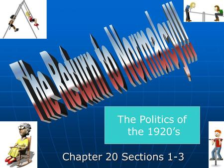 Chapter 20 Sections 1-3 The Politics of the 1920s.