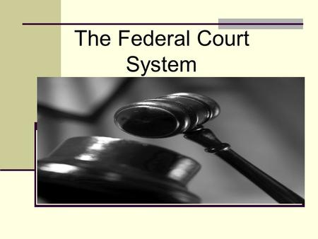 The Federal Court System. Overriding Questions What is the process that the Supreme Court uses to add cases to its docket? How are the justices politically.