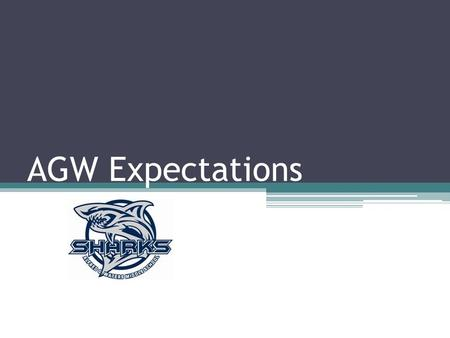 AGW Expectations. S uccessful H elpful A ccepting R esponsible K ind.