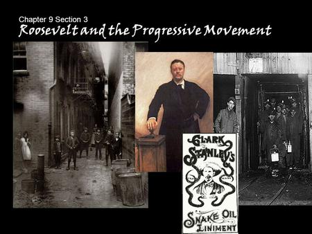 Roosevelt and the Progressive Movement