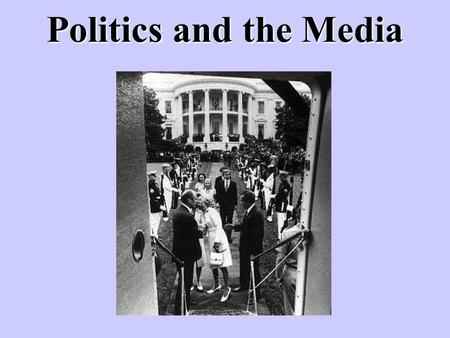 Politics and the Media. The media are important in a democracy in that they promote communication between citizens and their government. In a democracy,