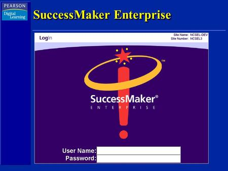 SuccessMaker Enterprise. SuccessMaker Reading Foundation Courseware Cherokee County January 22, 2004 Shari McGilvray.
