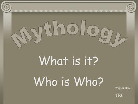 Wayson 2002 TR6 What is it? Who is Who? Breaking down the word for meaning.