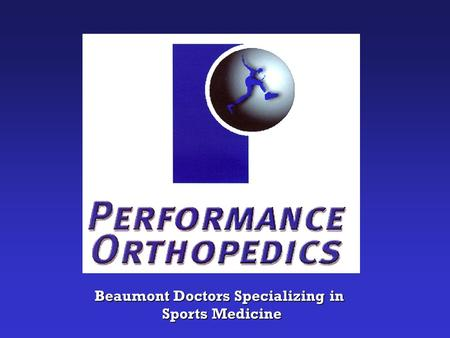 Beaumont Doctors Specializing in Sports Medicine Sports Medicine.