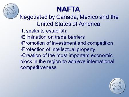 MEXICAN EXPERIENCE WITHIN NAFTA MOVEMENTS OF PEOPLE IMPACT ON NATIONAL POLICIES IMPACT ON NATIONAL POLICIES.