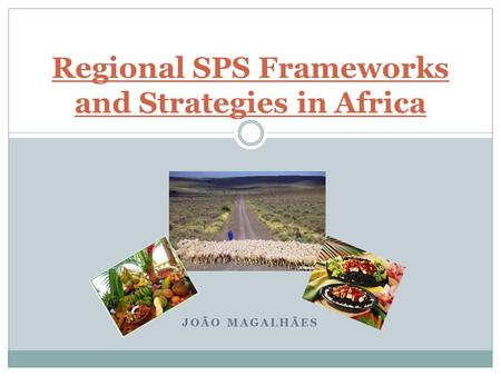 JOÃO MAGALHÃES Regional SPS Frameworks and Strategies in Africa.