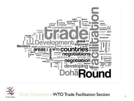 1 Sheri Rosenow - WTO Trade Facilitation Section.