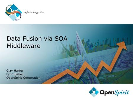 Infinite Integration Clay Harter Lynn Babec OpenSpirit Corporation Data Fusion via SOA Middleware.