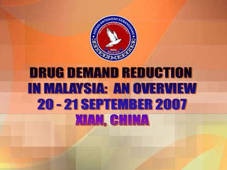 An overview ZTraditionally, the drug of choice in Malaysia is opiate-based drugs (heroin and morphine) and marijuana ZIn the past decade, annually we.