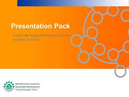 Corporate responsibility and business success in China Presentation Pack.