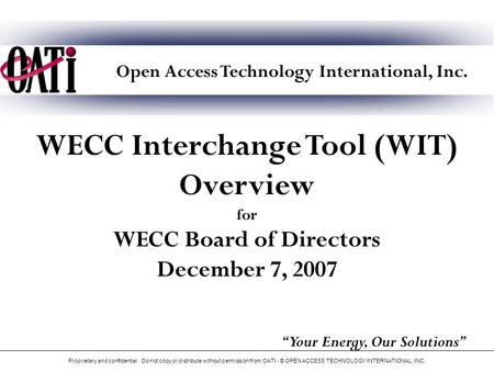 Open Access Technology International, Inc.