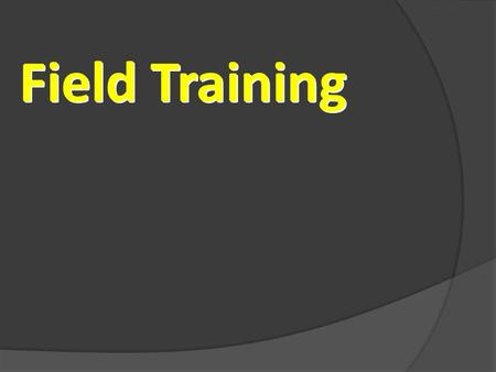 Field Training. Fundamentals Of Field Training Identify their Goals & Dreams Hot buttons Establish their Time Commitment Build & qualify their Prospect.