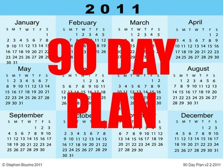 © Stephen Bourne 201190 Day Plan v2 2-2011. © Stephen Bourne 201190 Day Plan v2 2-2011 SPONSORING … what NORMALLY happens? We all use, in our own way,