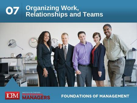 Learning Objectives 7.1 Describe the organizing process and how formal and informal organizations differ. 7.2 Identify some common types of organizational.