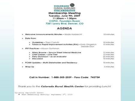 Development-Knowledge Transfer Survey results over time: Recognition of CCGC name was 49-50% in 2002 moving up to 74% by 2003 Ranking of most useful.