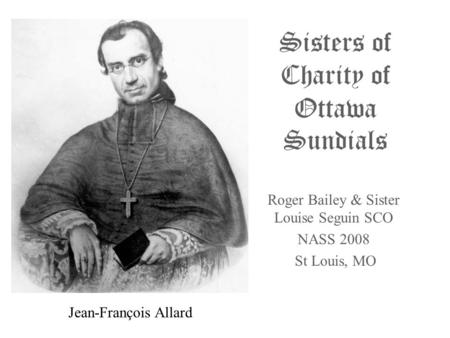 Sisters of Charity of Ottawa Sundials