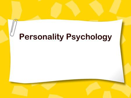 Personality Psychology. Personality The distinct patterns of behavior, thoughts, and feelings that characterize a persons adaptation to life.