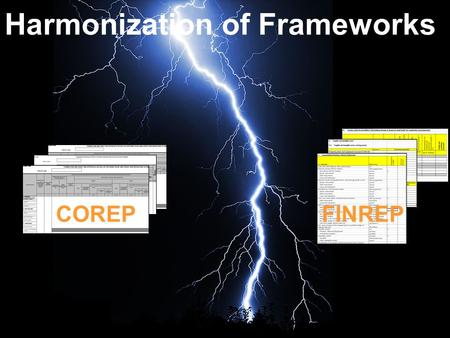 Harmonization of Frameworks COREPFINREP. Harmonisation of the CEBS frameworks Both frameworks are published by a common organisation –Supervision corporate.