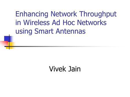 Thesis on adhoc network