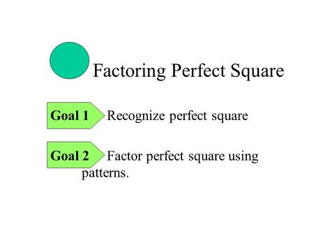 Factoring Perfect Square